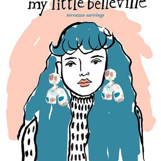 illustration for my little bellevilel earrings