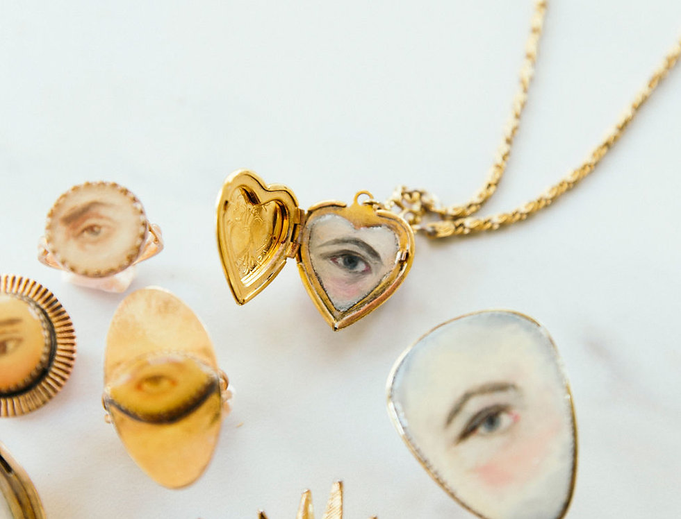 Custom Painted Lover's Eye Locket