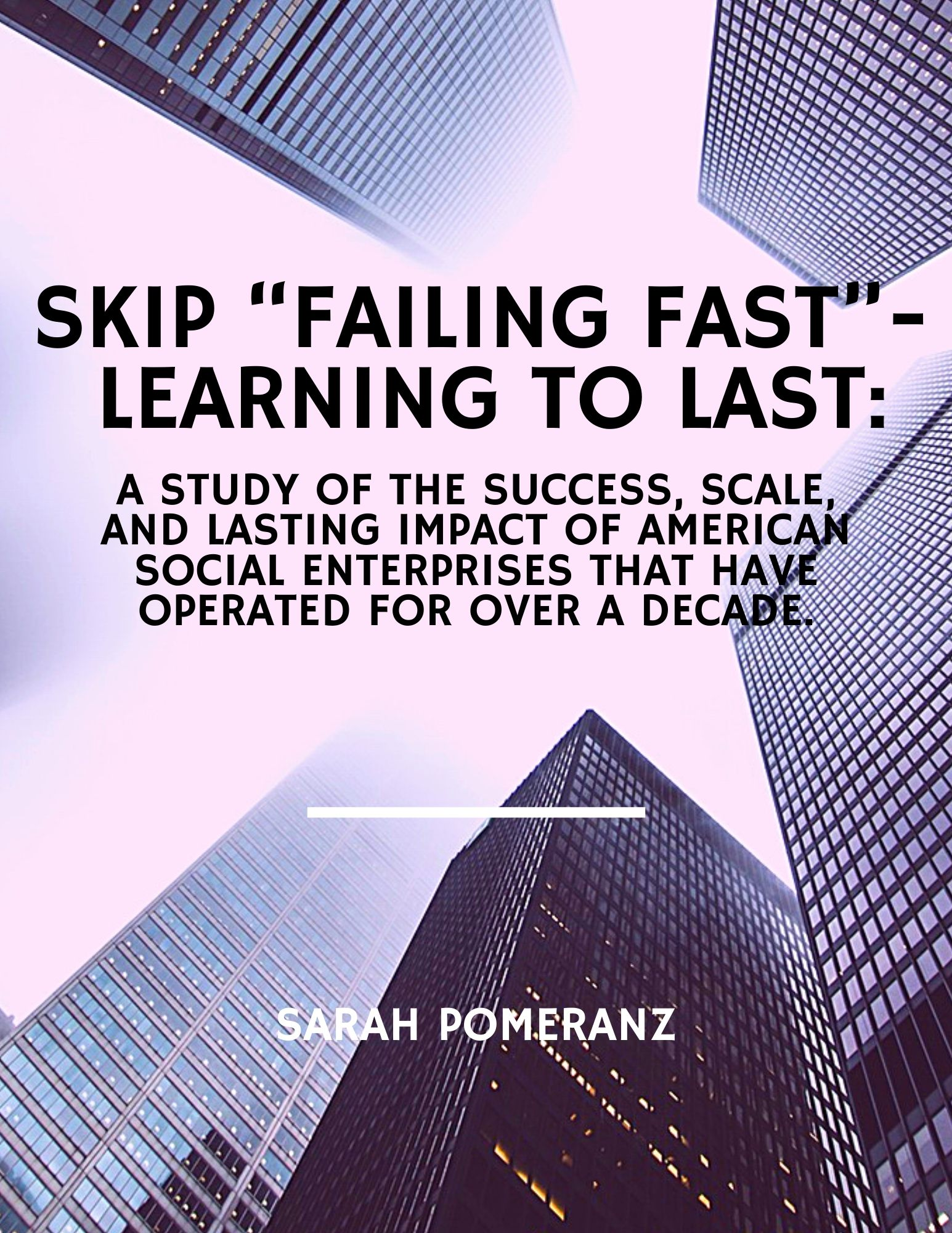 "Skip ""Failing Fast""- Learning to Last_"