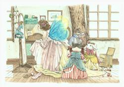 妖精とドレス
