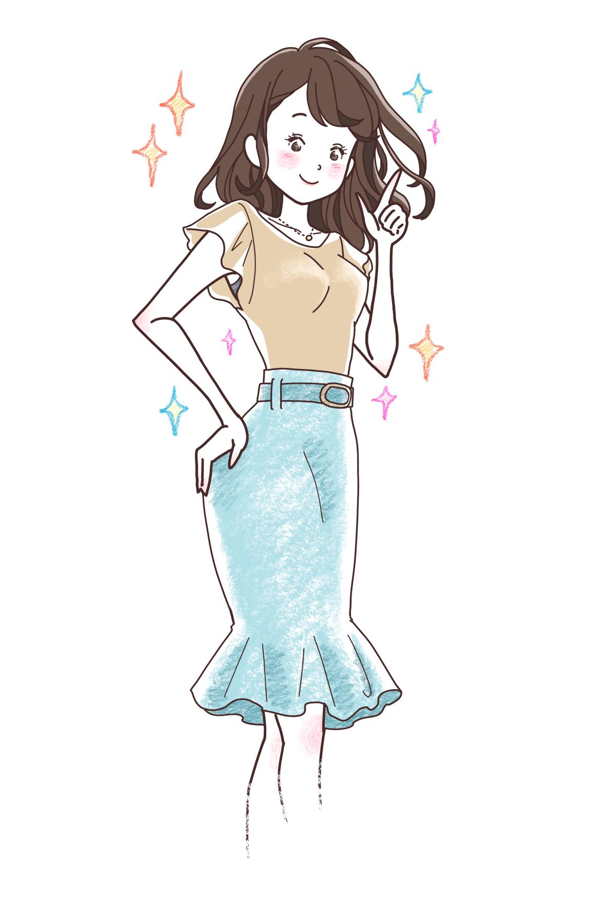女性立ち絵/カットイラスト