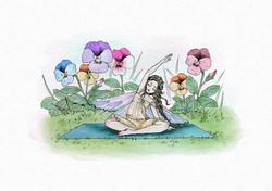 妖精とヨガ