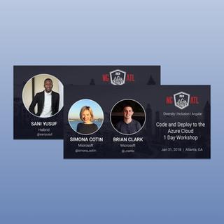 Digital marketing assets for ngAtlanta Angular conference