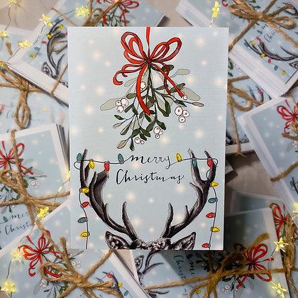 10 cards Under the mistletoe