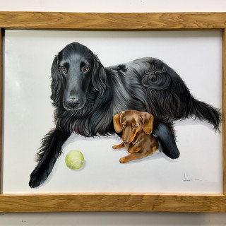 Framed Maisie and Gus