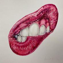 Lips & teeth self portrait