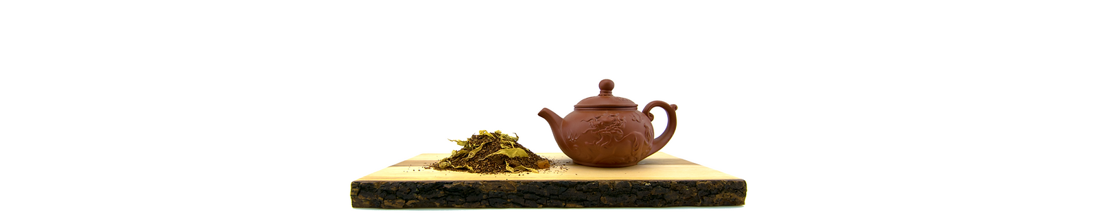 Our Passionfruit Mango Rooibos Tea with ceramic chinese tea kettle