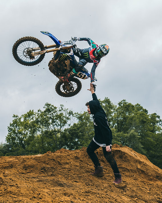 Justin Barcia whips over a motocross jump in North Florida