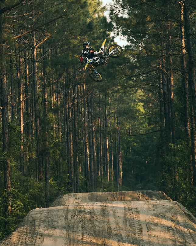 Ricky Carmichael whips over motocross jumps in Florida