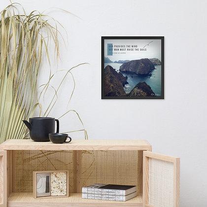 God Provides Framed Photo Paper Poster
