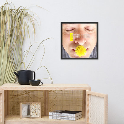 A Happy Soul Framed Photo Paper Poster