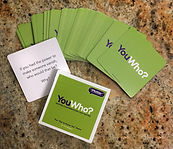 YouWho cards spread out on counter.jpg