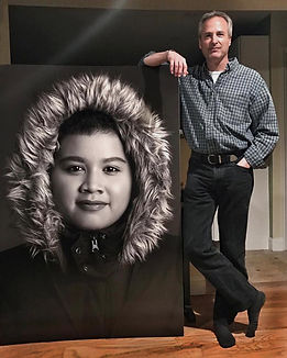 Photo of Rob with giant _I Matter_ image