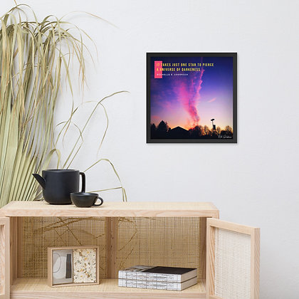 It Takes Just One Star Framed Photo Paper Poster