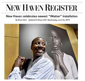 New Haven Register_City Hall installatio