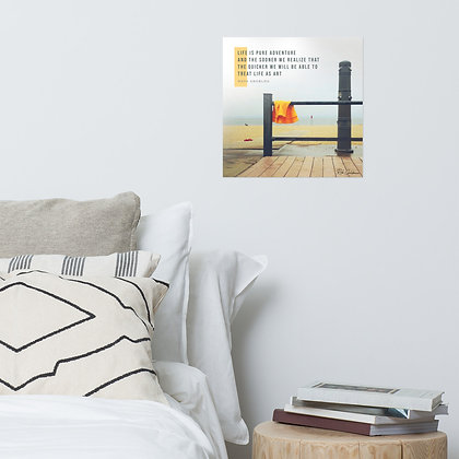 Life is Pure Adventure Photo Paper Poster
