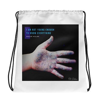 I Am Not Young Enough Drawstring Bag