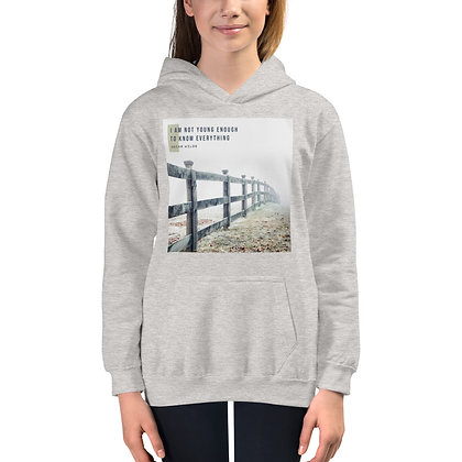 I Am Not Young Enough Youth Hoodie