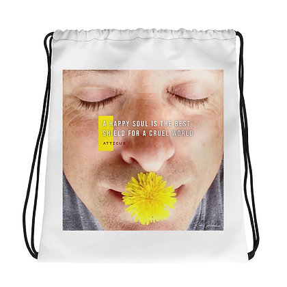 A Happy Soul Drawstring Bag