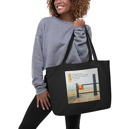Life is Pure Adventure Large Tote Bag