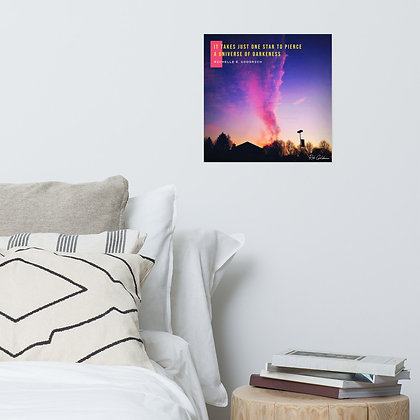 It Takes Just One Star Photo Paper Poster