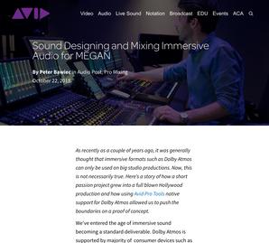 Sound Designing & Mixing Immersive Audio