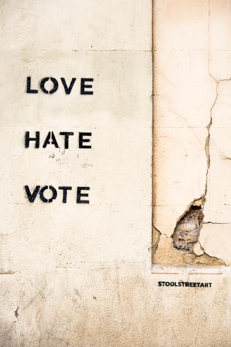 LOVE, HATE, VOTE