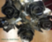 A bouquet of steel roses sold at Huble Homestead.