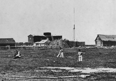 Playing cricket in Fort George on July 1, 1867.