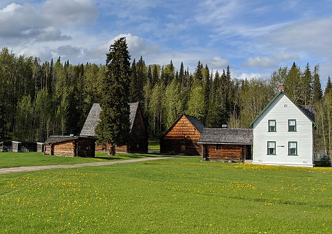 Huble Homestead on a summer day