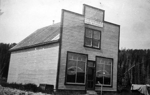 Seebach & Huble General Merchandise,the original store that stood at the Giscome Portage, now Huble Homestead.