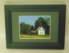 Leona Nyberg painting of Huble Homestead.