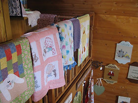 Quilts created by St. Michael's Quilters in Prince George.