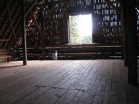 Animal Barn loft at Huble Homestead.