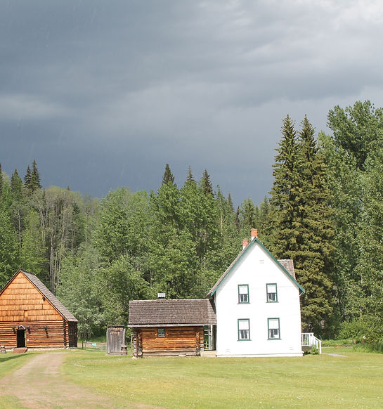 Huble Homestead before a storm.