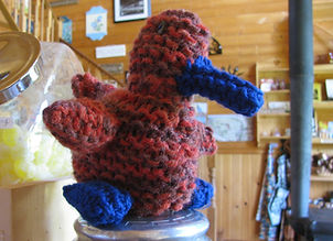 Hand crafted crochet duck made with love.