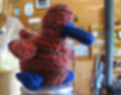 Crocheted items at Huble Homestead.