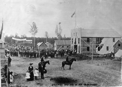 Dominion Day celebration at South Fort George in 1910.