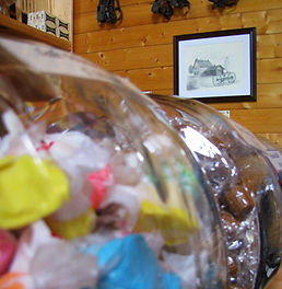 Salt water taffy in the General Store.