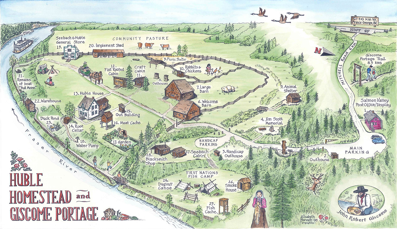 Map of Huble Homestead