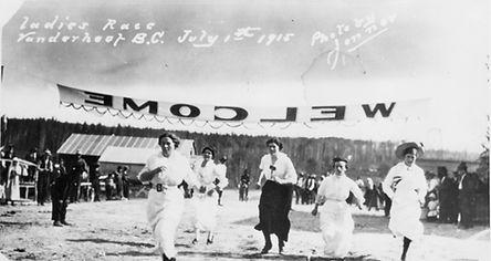 Ladies race at July 1st celebration in Vanderhoof, 1915.