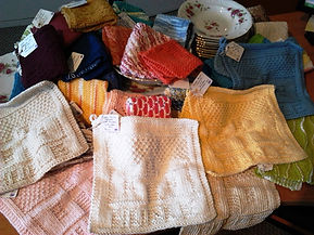Knitted goods at Huble Homestead.