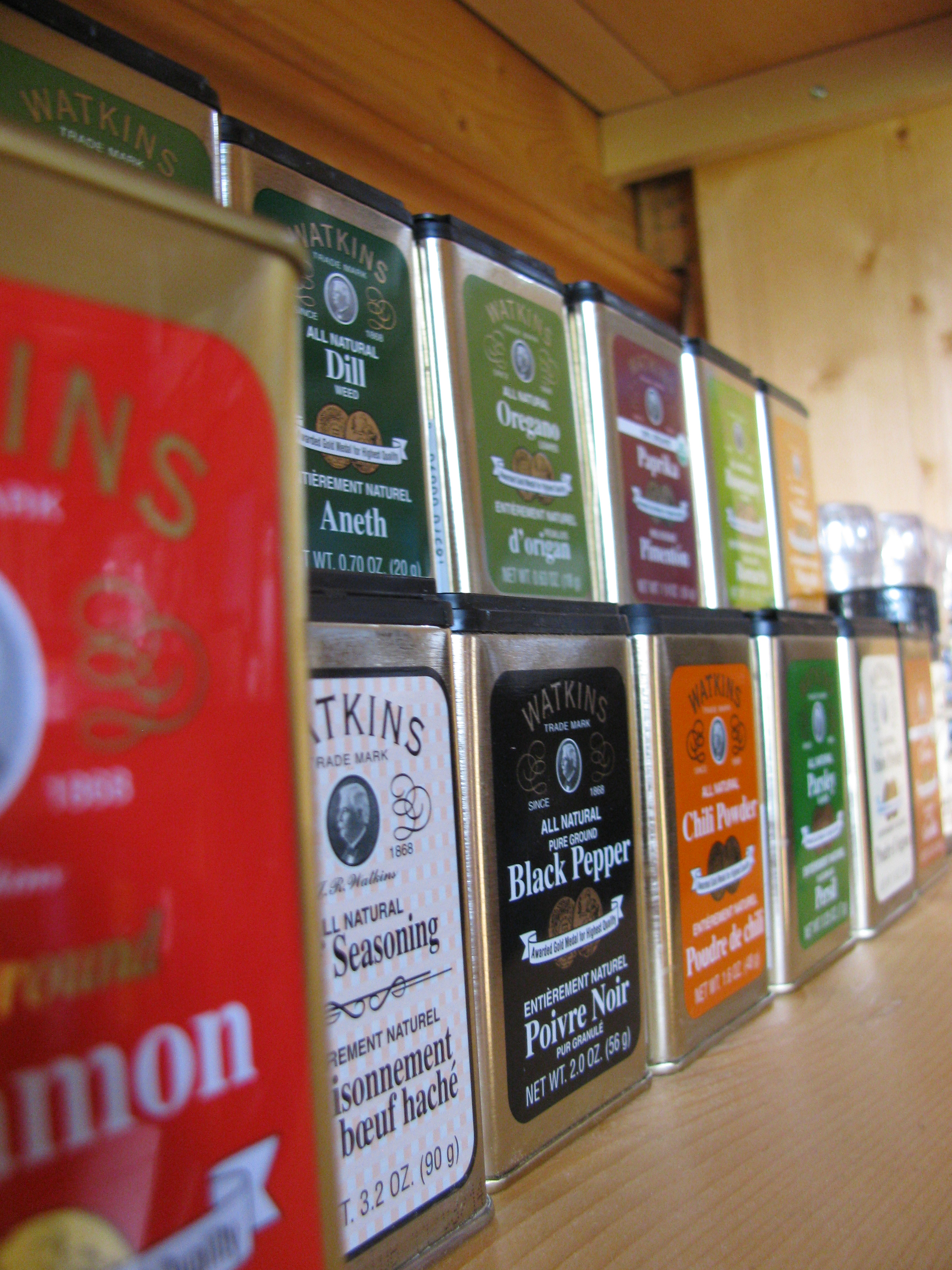 Selection of Watkins spices.