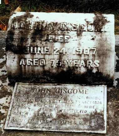 The final resting place of John Robert Giscome, located at Ross Bay Cemetary in Victoria, BC.