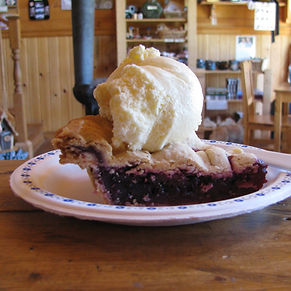 A slice of pie served in the General Store.