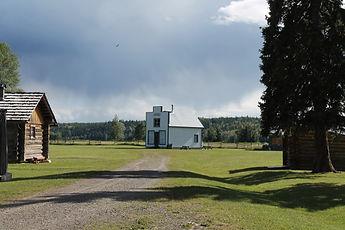 Landscape shot of Huble Homestead.