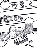 Candy counter at Huble Homestead coloring sheet