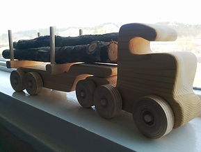 Wooden toy at Huble Homestead