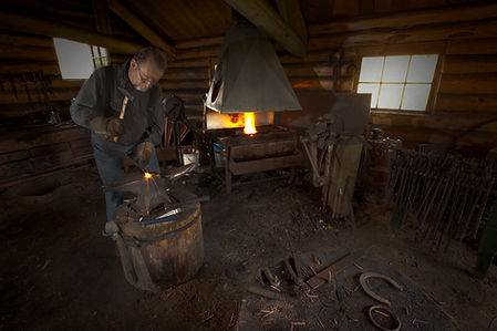 The blacksmih at Huble Homestead.