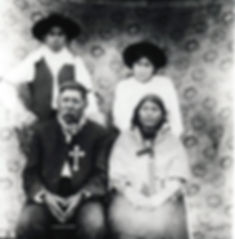 Lheidli Chief Louis with his family, circa 1900.